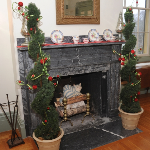 mantle and trees